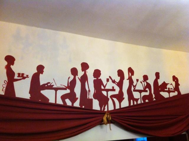 NaNoWriMo Naked Tea and Coffee Mural