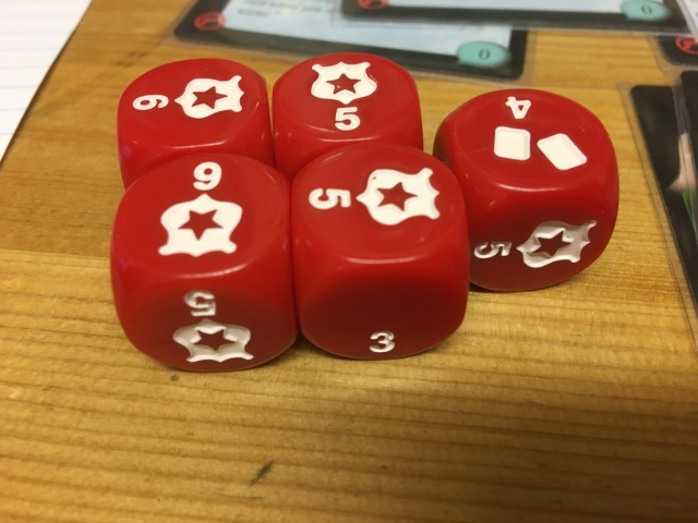 A bunch of Hostage Negotiator dice